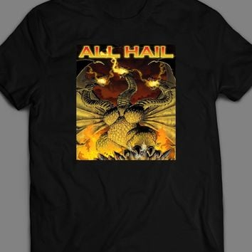 ALL HAIL KING GHIDORAH KING OF THE MONSTERS MOVIE INSPIRED T-SHIRT