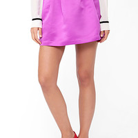 FOREVER 21 Pleated Satin Skirt Orchid 28