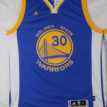 Golden State Warriors Stephen Curry #30 Blue  Jersey