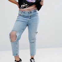ASOS CURVE Fishnet Leggings at asos.com