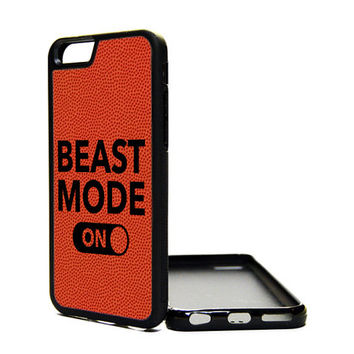 Apple iPhone 6 5C 5S 4S Generation Fitted Rubber Silicone TPU Phone Case Cover Beast Mode On Basketball Print Love Sports Girl