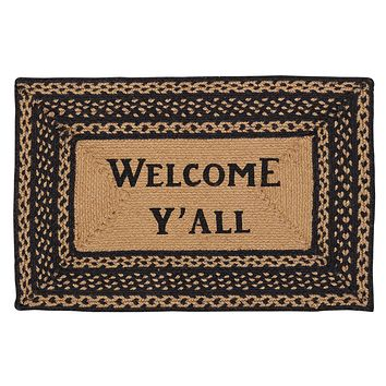 Farmhouse Welcome Y'all Rectangle Rug