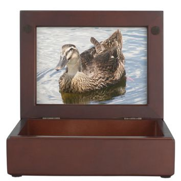 Mallard Duck Wooden Keepsake Box