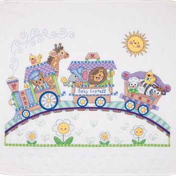 "Baby Express Dimensions/Baby Hugs Quilt Stamped Cross Stitch Kit 43""X34"""