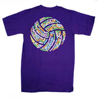 Volleyball Words Shirt - Short Sleeve - Lucky Dog Volleyball