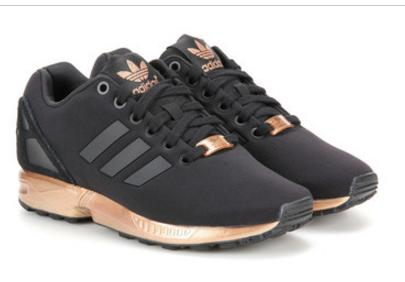 huge selection of ee581 3459c ADIDAS ZX Flux Women Running Sport Casual Shoes Sneakers Black golden