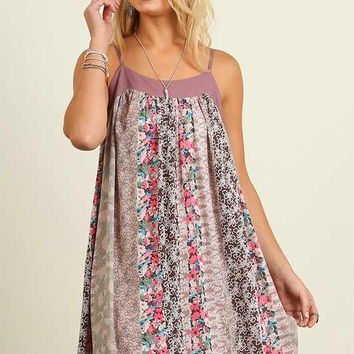Weekend Hideaway Dress - Mauve Mix