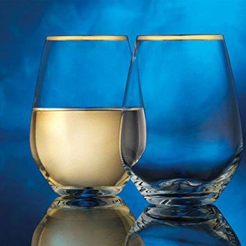 Cellini Clear Elegant Drinkware Glassware Set of 4 Wine Glasses 20 Oz Tablesetter Perfect for Homes amp Bars  by Home Essentials amp Beyond