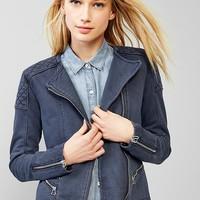 Quilted Moto Knit Jacket