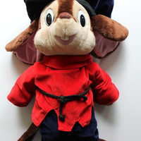Vintage Fievel The Mouse - An American Tail - Giant Plush by Caltoy  1986