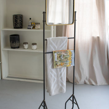 Square Mirror with Floor Stand