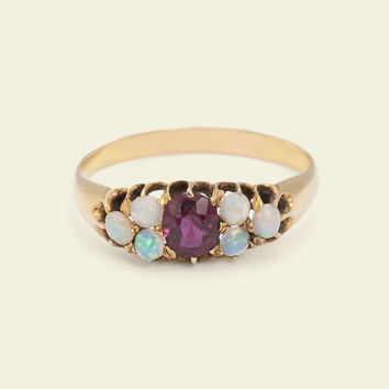 Victorian Opal and Garnet Ring