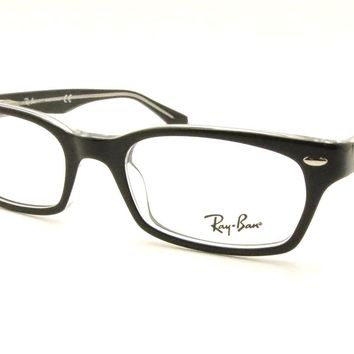 ff35ad13417e2 Ray Ban RB 5150 2034 Black Crystal Eyeglass New Authentic RX Frame