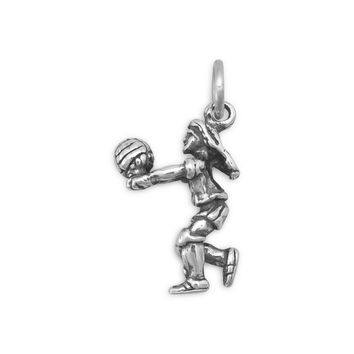 Girl Volleyball Player Charm