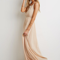 Beaded Chiffon Maxi Dress