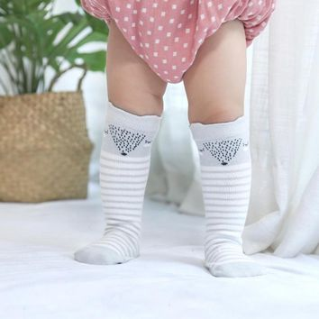 Newborn Baby Socks Kids Boy Girl Winter Warm Knee High Cotton Cartoon  Non Slip Warm Leg Warmers Socken Christmas Feet Wear Set