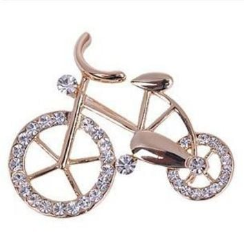 br009 Bike Lovers Impeccable Brooch Gifts Bicycle Brooches Jewelry