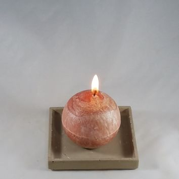 "3.1"" Natural Palm Wax Sphere Candle"
