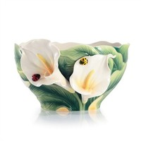Happy Reunion Calla Lily Porcelain Salad Bowl by Franz Collection