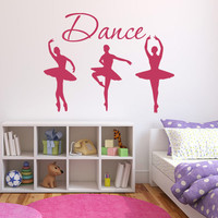 Ballerina Dance Vinyl Wall Sticker Quote 72 x 55cm QU172