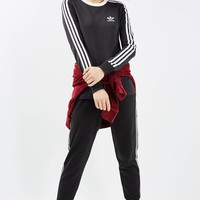 3 Stripe Long Sleeve Tee | Topshop