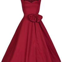 Lindy Bop 'Grace' Red Cotton Swing Dress (M)