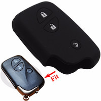 Silicone Protection Case for Lexus CT200h ES 300h IS250 GX400 RX270 RX450h RX350 LX570 Key Cover Key Wallet Holder With L0G0