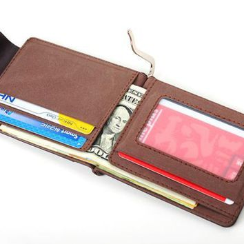 New Brand Fashion Solid Ultra-thin Leather Wallet