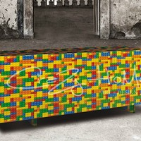 Sideboard with doors Lego Collection by CRAZY HOME | design Overdrive