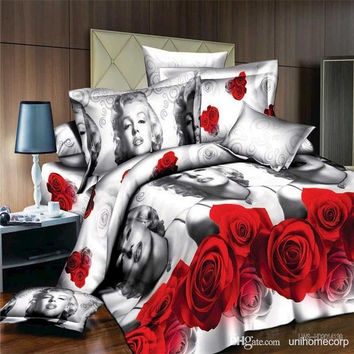 Sexy Marilyn Monroe print 3d duvet cover bedding set 100% cotton (Size: Queen) = 1930435588