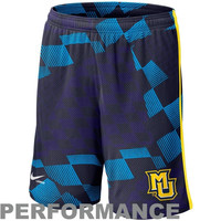 Nike Marquette Golden Eagles Lacrosse Digi Training Short 1.3 - Navy Blue