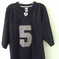Brand New Mens Collins Number 5 Black Football Jersey Size 50