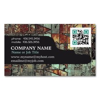 Corporate QR Code Professional Modern Abstract Business Card Magnet