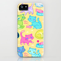 Cutie Cat  iPhone & iPod Case by LookHUMAN
