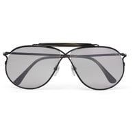 Tom Ford - Aviator-Style Horn-Trimmed Titanium Photochromic Sunglasses
