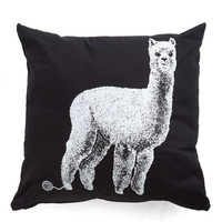 ModCloth Quirky Alpacas a Punch Pillow