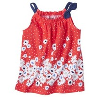 Genuine Kids from OshKosh™ Infant Toddler Girls' Floral Boarder Tank - Real Coral