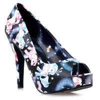 Black Celestial My Little Pony Peep Toe Pumps