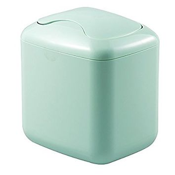 mDesign Wastebasket Trash Can for Bathroom Vanity Countertops - Mint