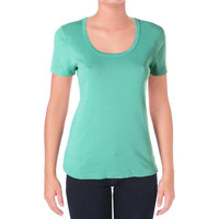 Three Dots Womens Cotton Short Sleeves Pullover Top