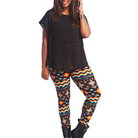 Soft Aztec Legging | Wet Seal+