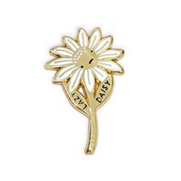 Lazy Daisy Enamel Pin