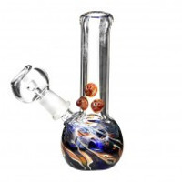 "4"" USA Mini Raked Concentrate Water Pipe 10mm"