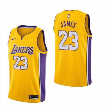 LeBron James Los Angeles Lakers #23 Nike Purple Swingman Icon Edition jerseys - Best Deal Online