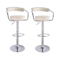 Unbyn Cream Swivel Bar Stools (Set of two)