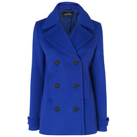 Buy Jaeger Short Pea Coat, Blue online at John Lewis