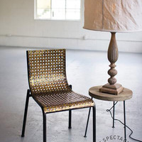 Gold Stamped Metal Chair