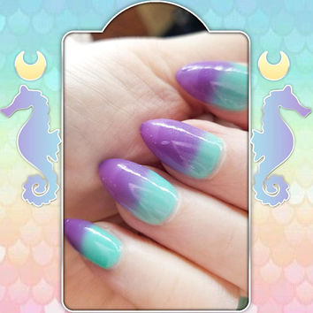 Baby Mericorn - A Thermal Mint Teal to Pastel Purple Nail Polish
