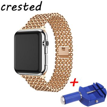 CRESTED Stainless Steel link Bracelet watch strap For Apple Watch Band 42mm 38mm watchband for iwatch 3/2/1 for old customers