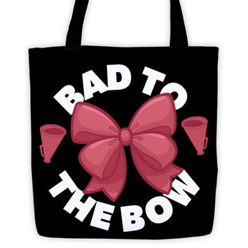 Cheer Tote Bag - Bad to the Bow